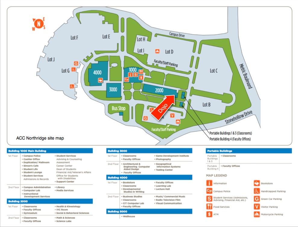Dojo Site Map